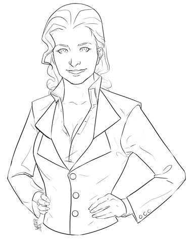 ToDo List Tips: I used Fiverr to hire an artist to draw an image of a business woman.