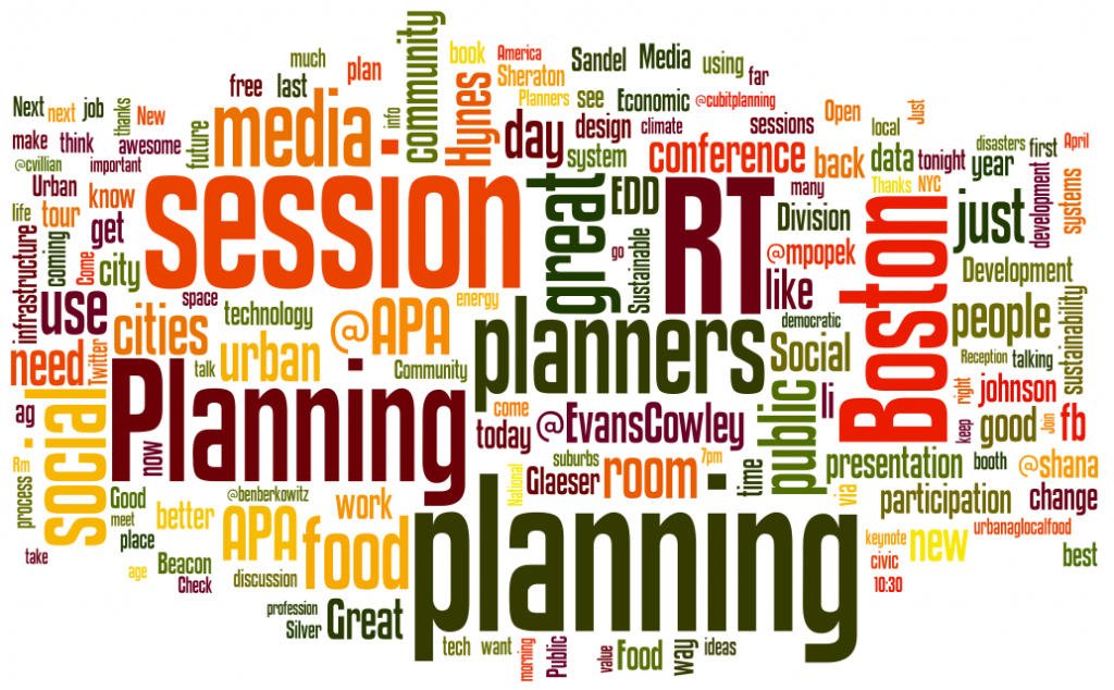 Top Words in Urban Planning Trends Tweets