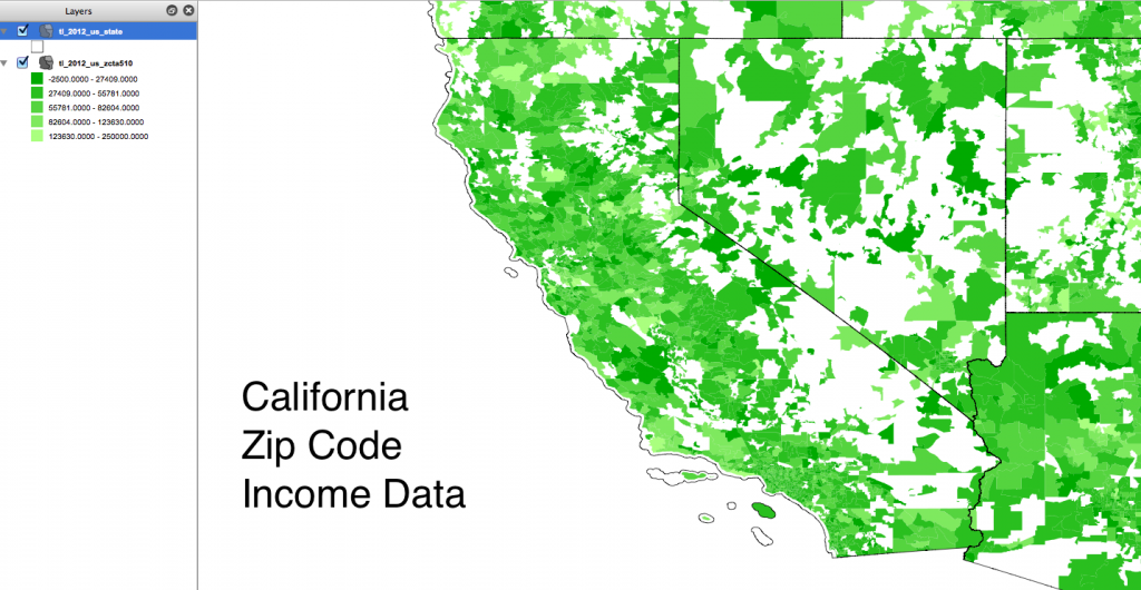 California Zip Code Income Data