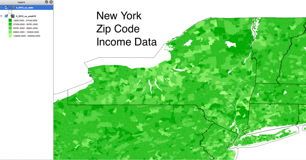 New York Zip Code Income Data
